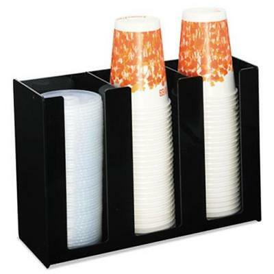 Boardwalk Cup Holder, 12 x 4 x 8, Black, Acrylic (Acrylic Cup Holder)