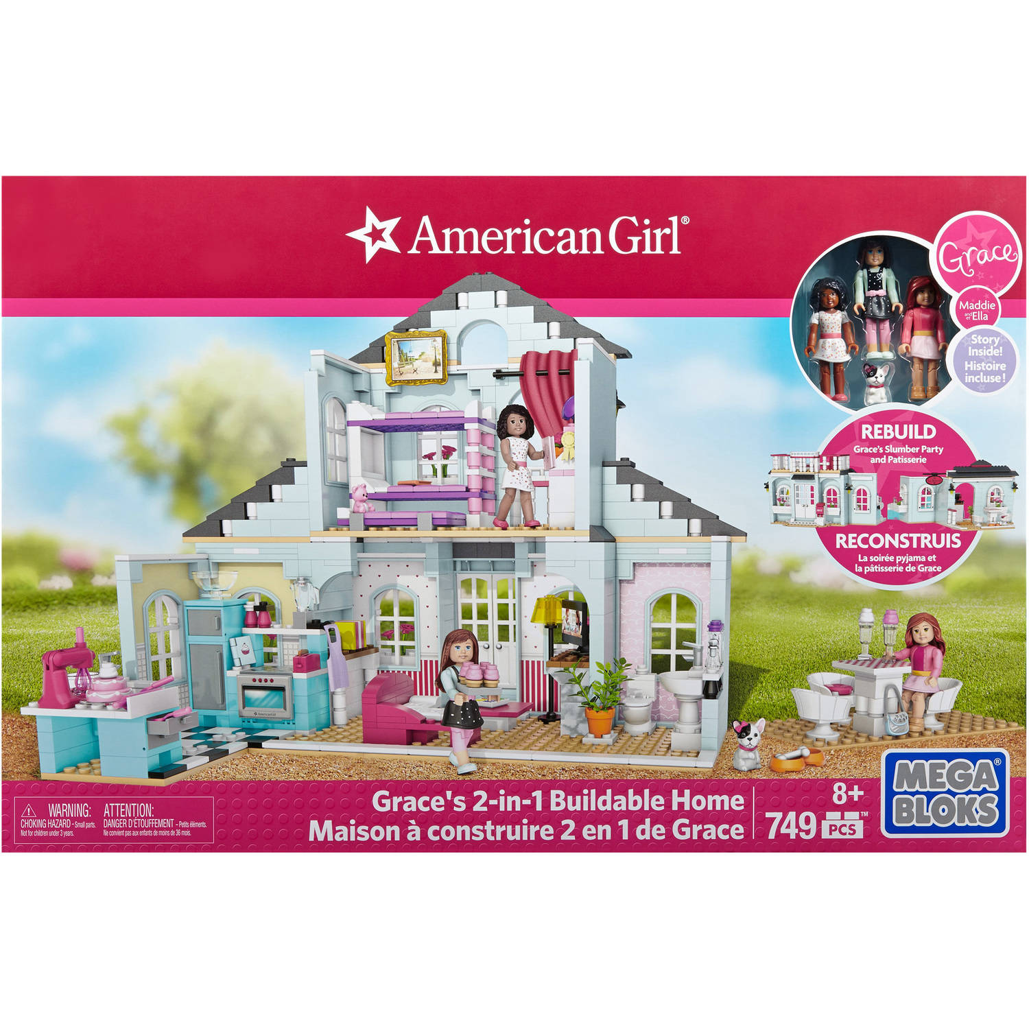 Mega Bloks American Girl Grace's 2-in-1 Buildable Home Playset
