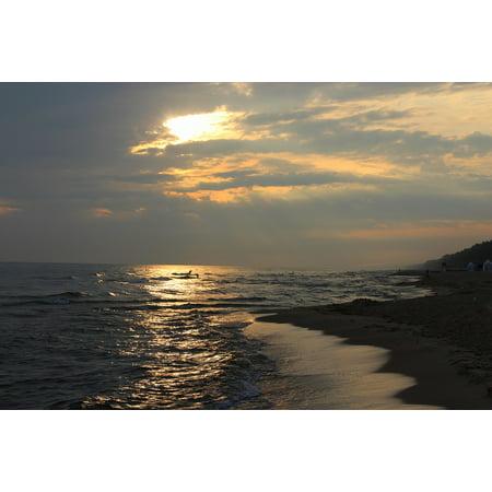 Canvas Print Sea Beach East The Coast The Baltic Sea Stretched Canvas 10 x