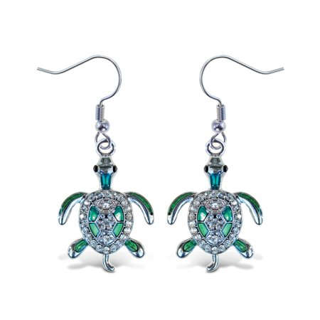 Sparkling Earrings - Sea Turtle