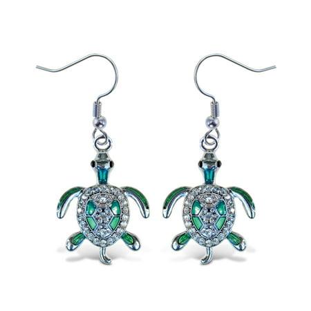 Sparkling Earrings - Sea Turtle
