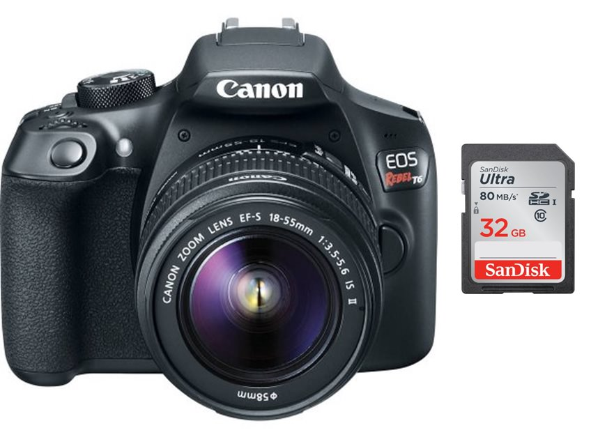 Canon EOS Rebel T6 DSLR Camera with 18-55mm lens Accessory Bundle ...