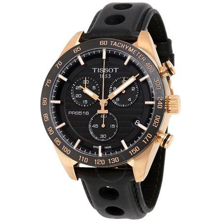Tissot PRS 516 Chronograph Leather Mens Watch