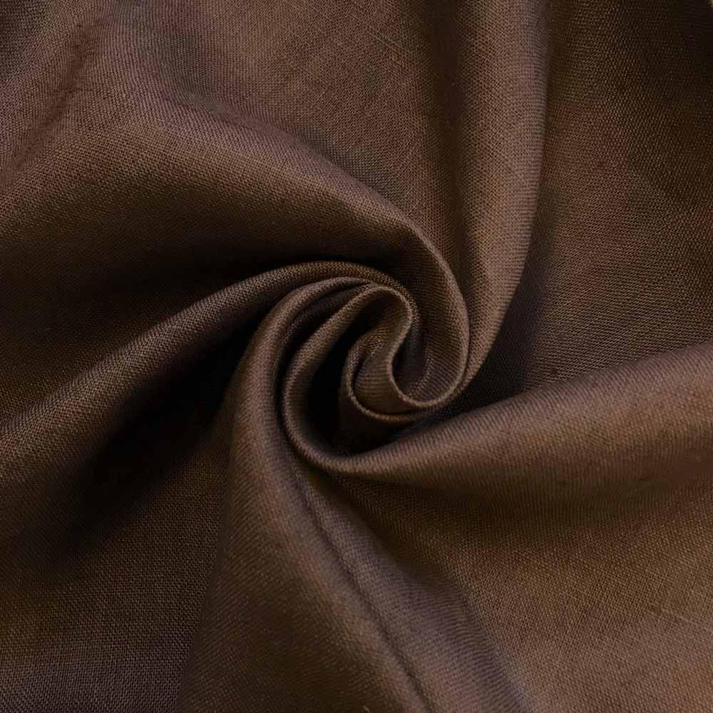 "Linen Fabric 60"" Wide Natural 100% Linen By The Yard (Brown)"