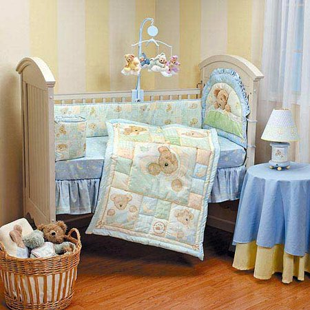 Boyd S Bears And Friends Beary Sleepy 4 Piece Crib Bedding