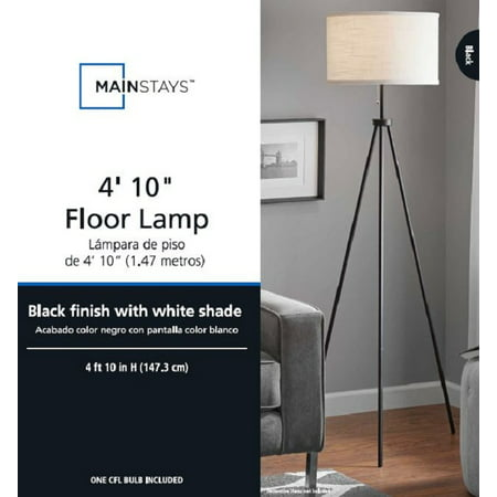 - MAINSTAYS BLACK TRIPOD FLOOR LAMP