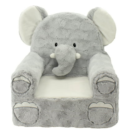 Kids Embroidered Chair (Sweet Seats Adorable Elephant Children's Chair, Standard Size, Machine Washable Removable Cover, 13