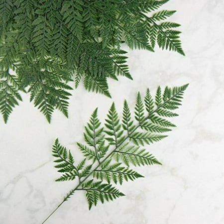 Vinyl Artificial Leather Leaf Fern Stems | 12 Stems By Factory Direct Craft - Factory Direct Crafts