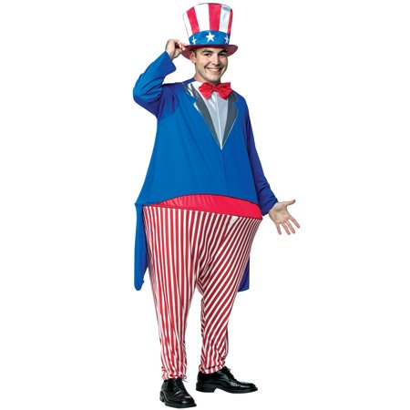 Uncle Sam Hoopster Men's Adult Halloween Costume, One Size, (40-46)