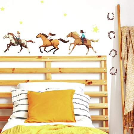 - SPIRIT RIDING FREE Peel & Stick 36 Wall Decals Horses Pony Home Decor Removable Wall Stickers