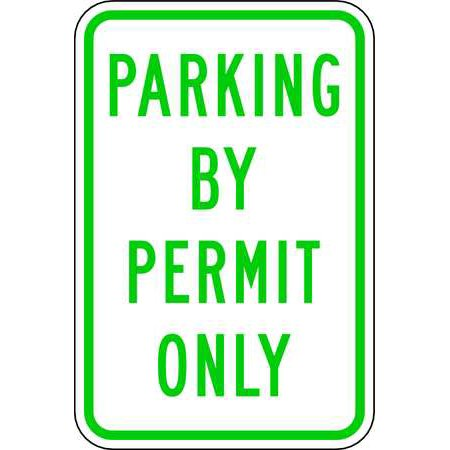 LYLE RP-031-12HA Parking Sign, 18 x 12In, GRN/WHT, Text