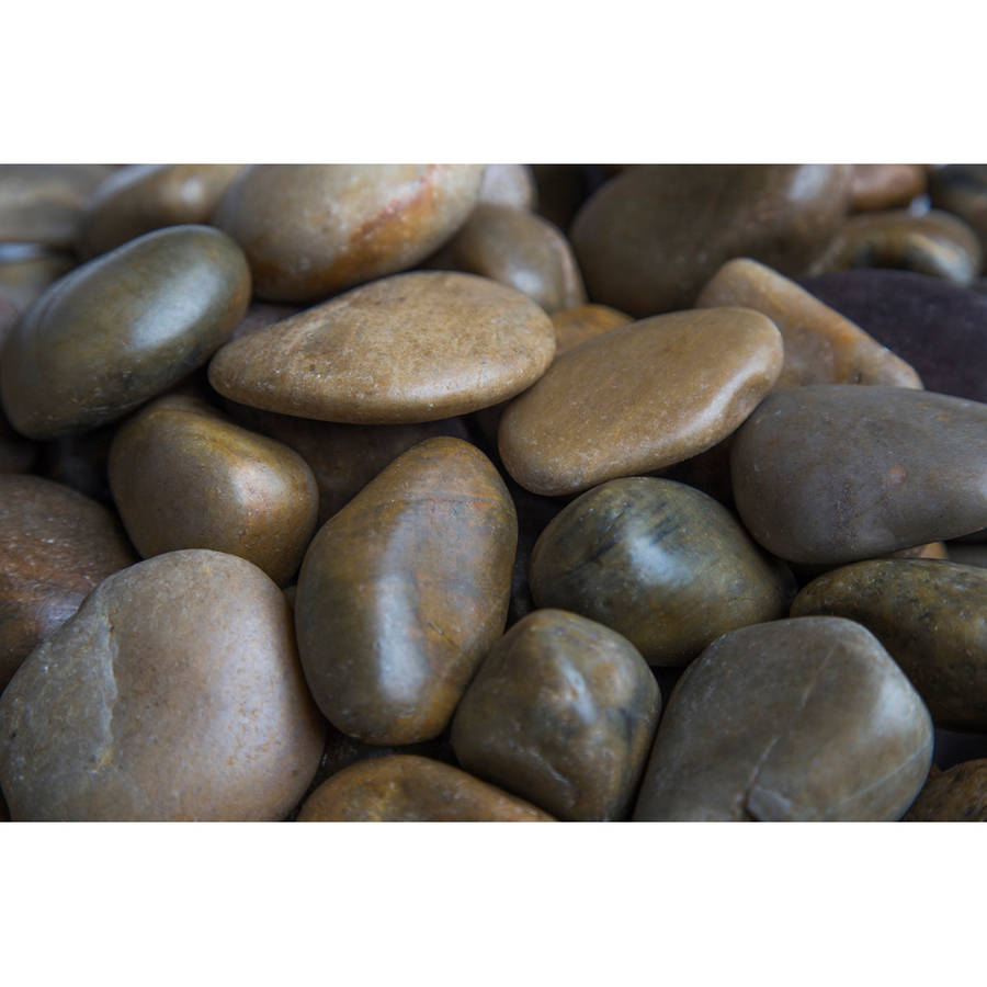 """Margo 20 lb Mixed Grade A Polished Pebbles, 1"""" to 2"""""""