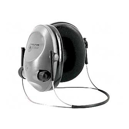 Peltor Electronic 6S Earmuff, Gray, NRR 19, Behind the Head, Stereo