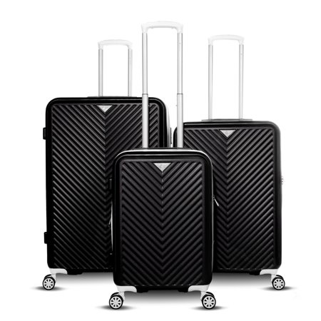 - Gabbiano Explorer Collection 3-Piece Expandable Hardside Luggage Set