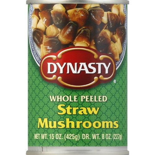 Dynasty Whole Peeled Straw Mushrooms, 15 oz (Pack of 12) by Dynasty