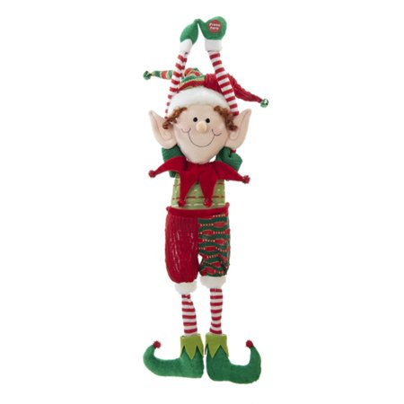 pack of 6 battery operated singing and shaking leg elf christmas decorations 22