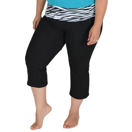 stretch is comfort  plus size capri yoga pants  xxx