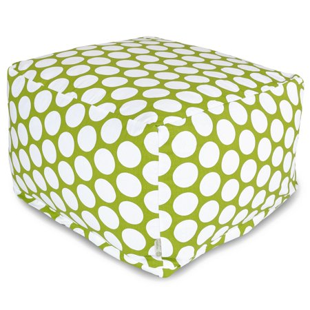 Superb Majestic Home Goods Indoor Cotton Hot Green Large Polka Dot Ottoman Pouf Lamtechconsult Wood Chair Design Ideas Lamtechconsultcom