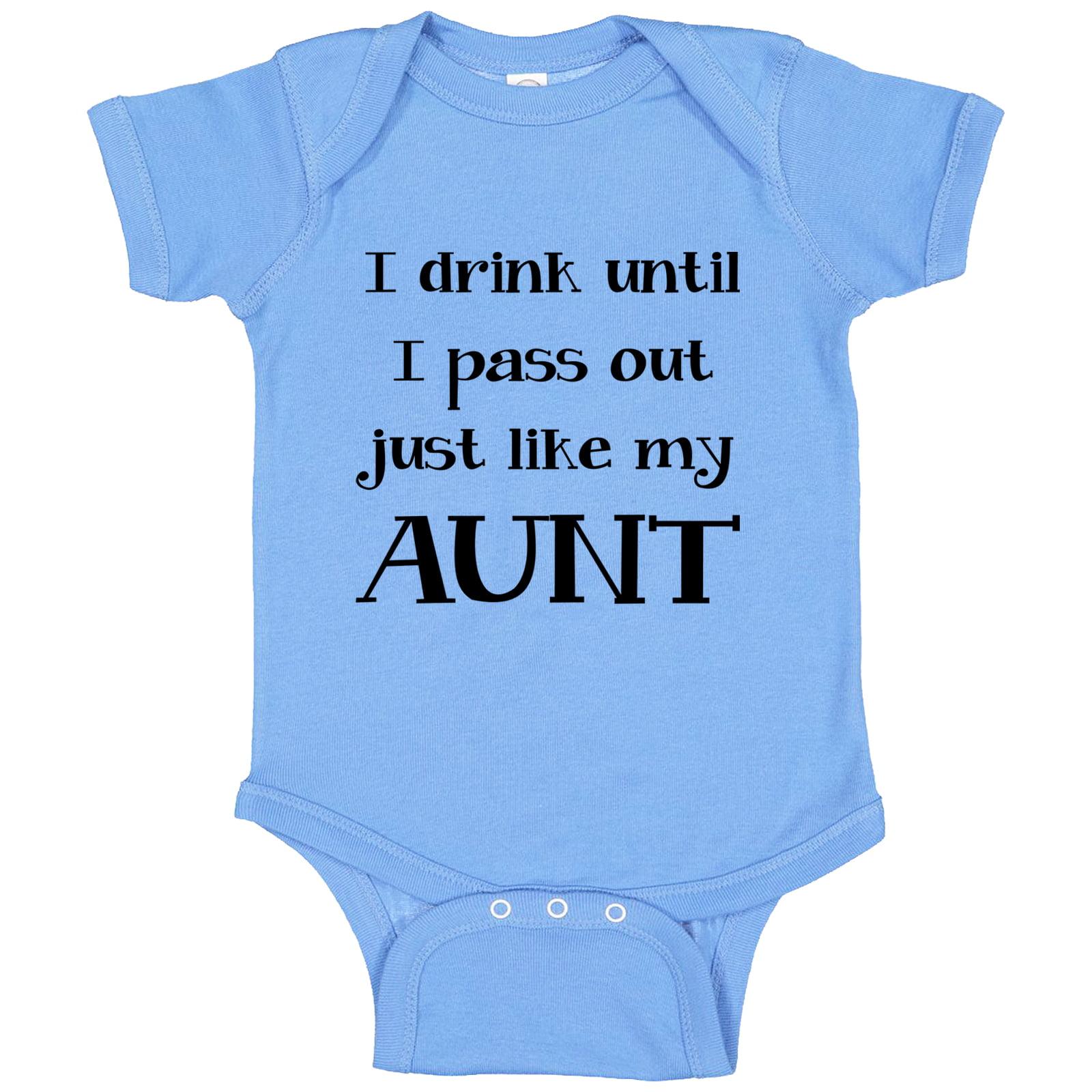 aunt baby bodysuit infant aunt baby clothing drink like my aunt Aunt baby one piece aunt baby clothes i love my aunt