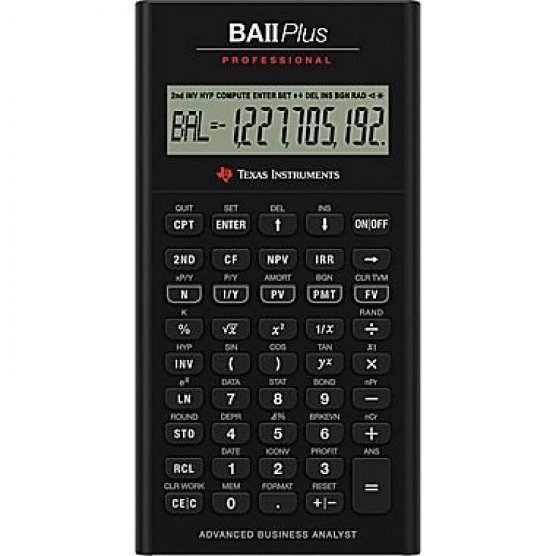 Texas Instruments TI BA II+ Professional Financial Calcul...