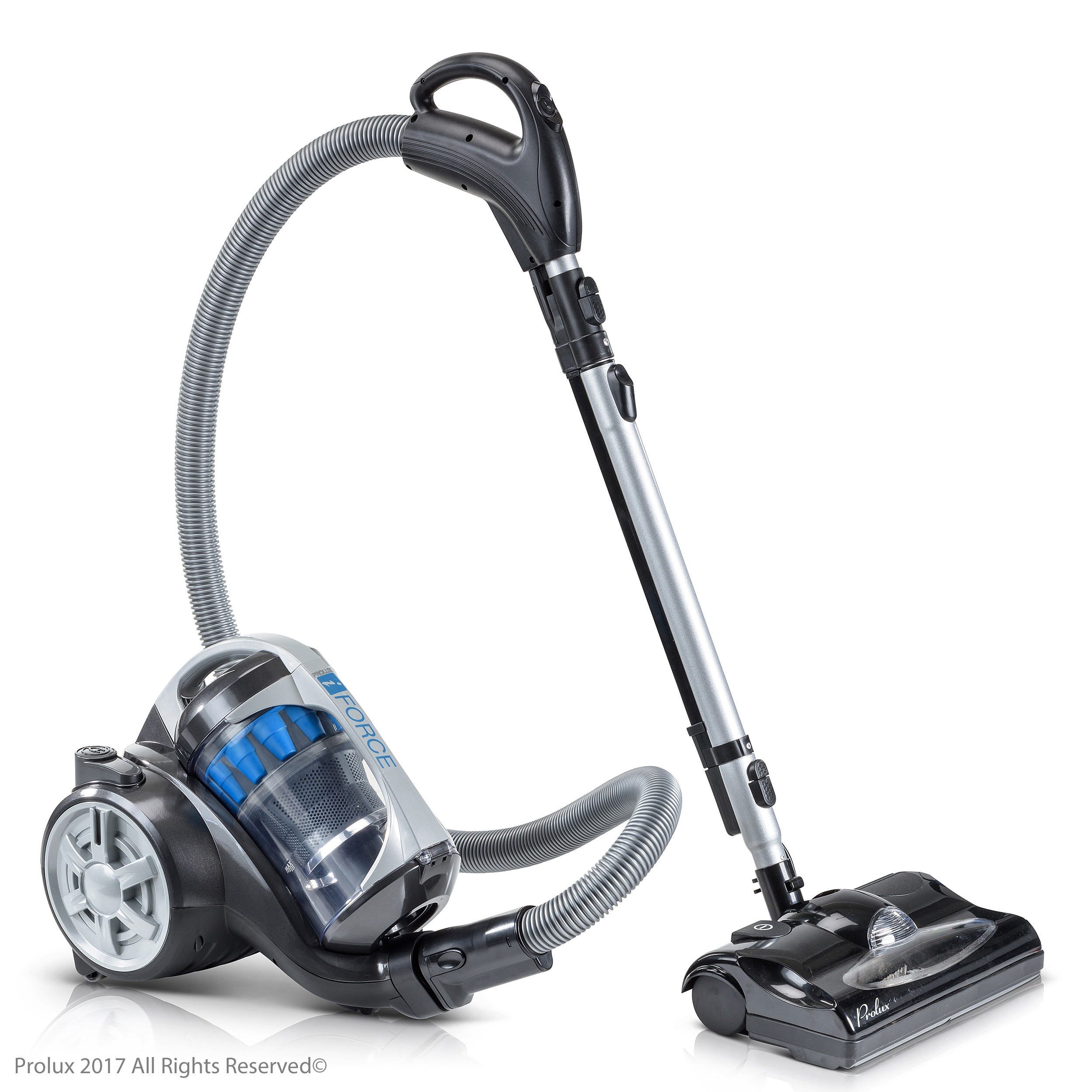 Prolux iFORCE Light Weight Bagless Canister Vacuum Cleaner Hepa Filtration & Power Nozzle