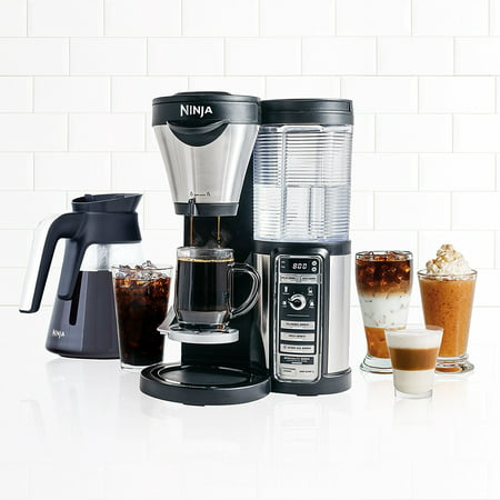 ninja coffee bar auto-iq brewer with glass carafe, cf080 - walmart.com