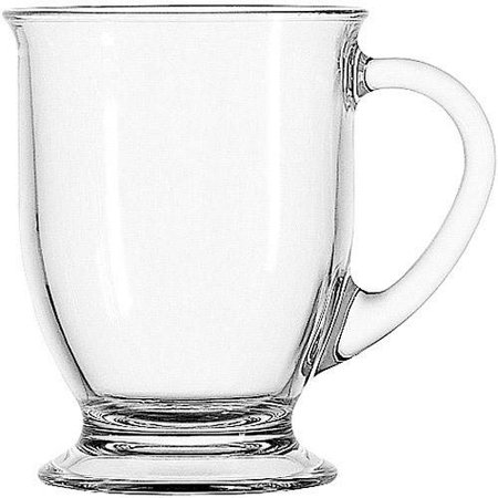 Anchor Hocking 4-Piece Cafe Mug Set, Clear