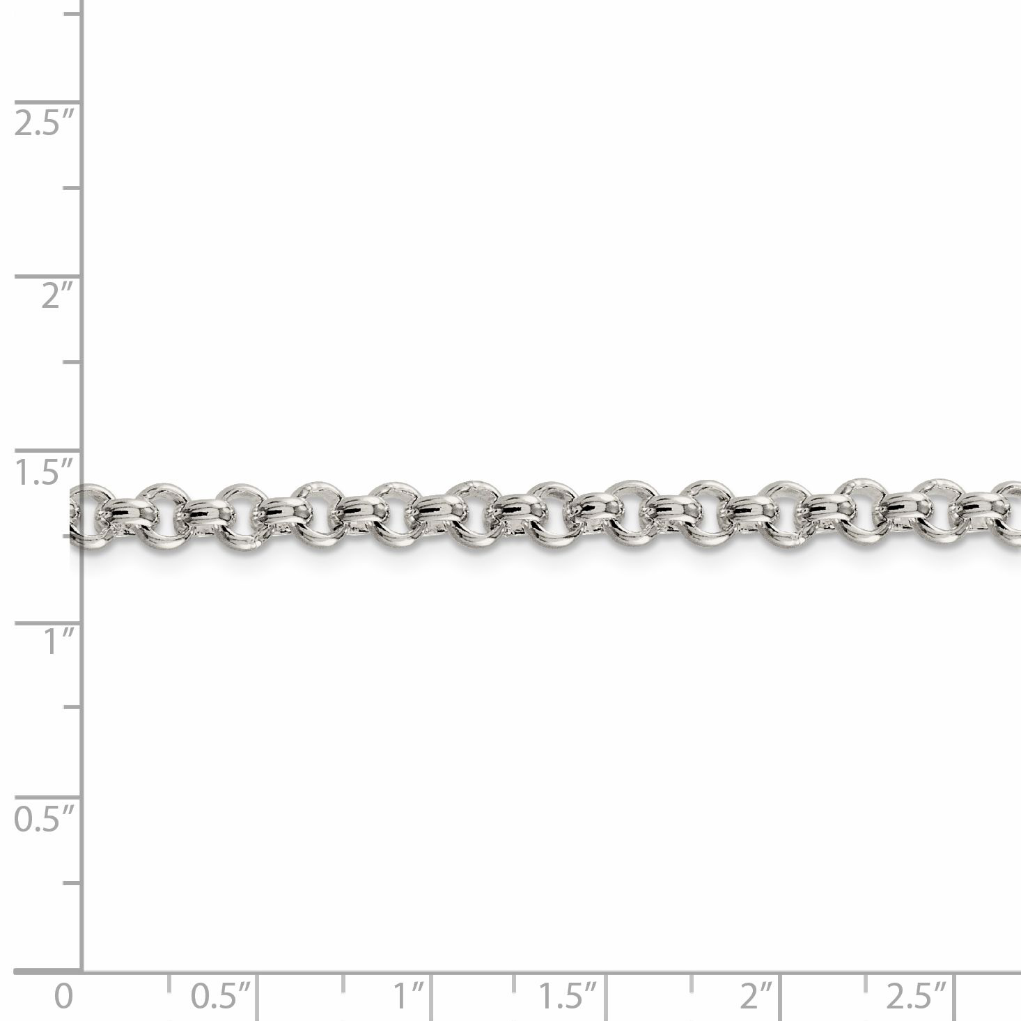 925 Sterling Silver 5mm Rolo Bracelet Chain 8.5 Inch Fine Jewelry Gifts For Women For Her - image 1 of 2
