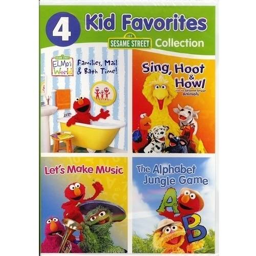 4 Kid Favorites Sesame Street Collection: Elmo's World   Sing, Hoot & Howl   Let's Make Music   The Alphabet... by WARNER HOME VIDEO