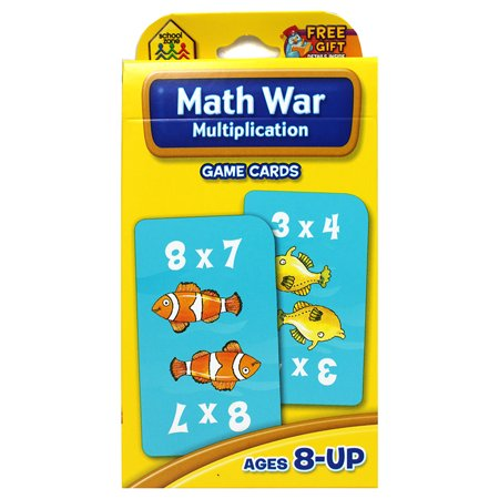 Game Cards Multiplication Math War