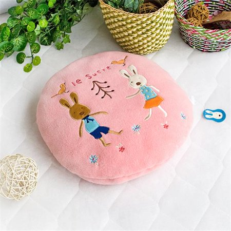 Sugar Rabbit - Round Pink02 Blanket Pillow Cushion / Travel Pillow Blanket - image 1 de 1
