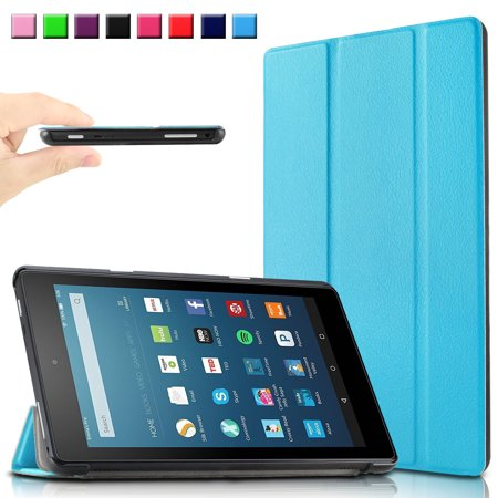 Infiland Ultra Smart Case Cover For All New Fire Hd 8  6Th Generation  2016 Release  8  Hd Display Wi Fi Tablet  Blue