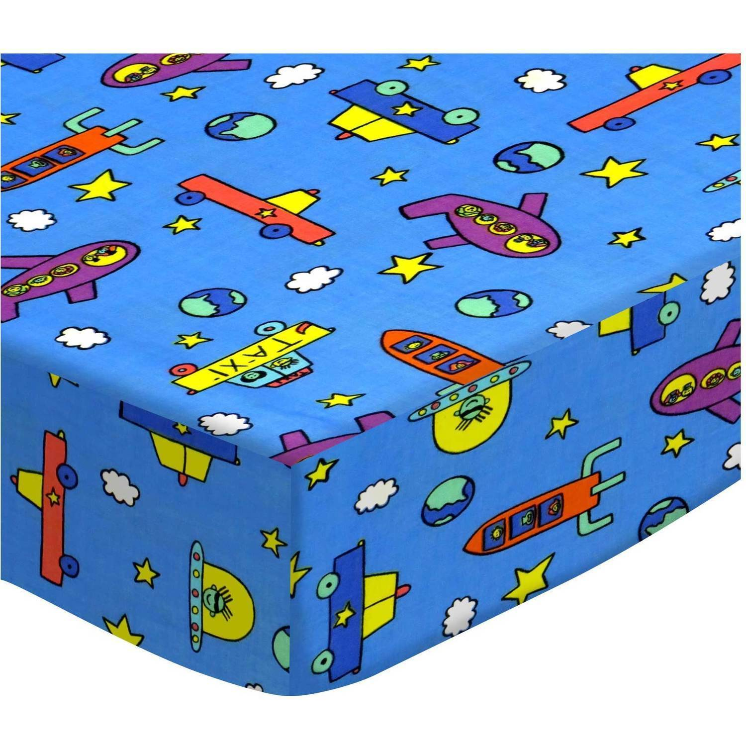 SheetWorld Fitted Pack N Play (Graco Square Playard) Sheet - Kiddie Transport