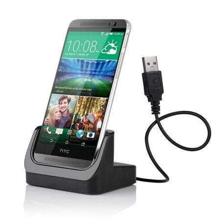 VicTsing Desktop USB Data Sync Charging Docking Station Cradle Charger Adapter Holder Mount For HTC ONE M8 Black