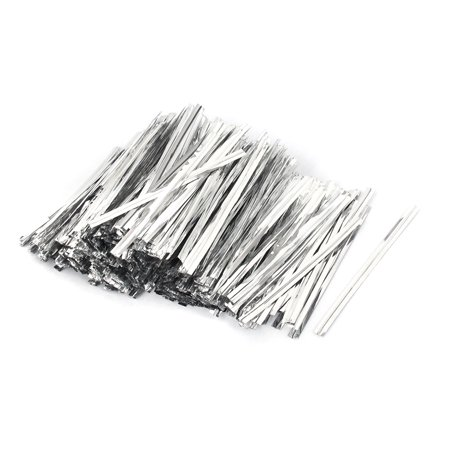 - 4000pcs 70mm Long Silver Tone Metal Twist Tie String for Wedding Party Candy Bag