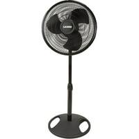 """Lasko 16"""" Oscillating Stand 3-Speed Fan, Model 2521, Black"""