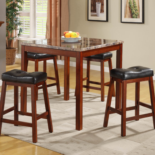 Woodhaven Hill Archstone 5 Piece Counter Height Dining Set