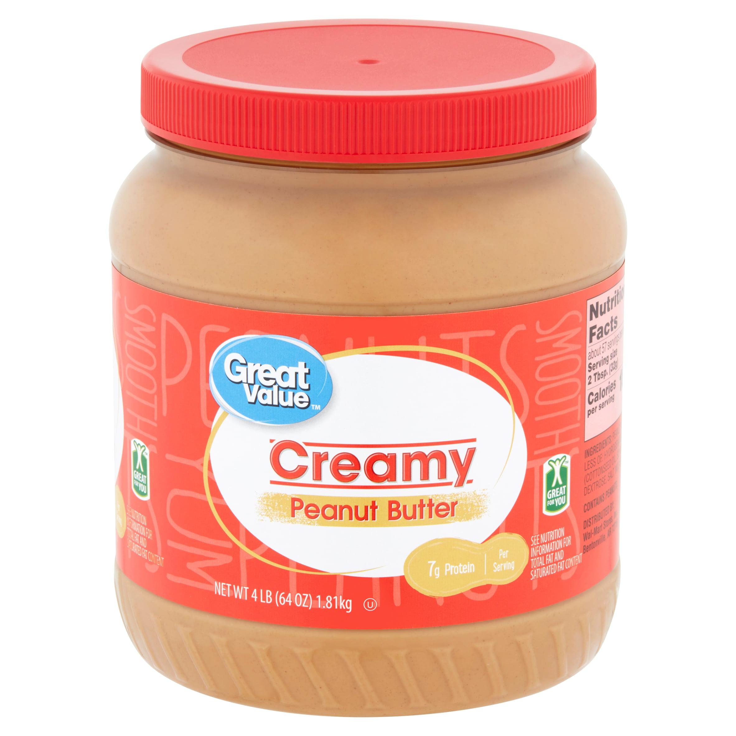 Great Value Creamy Peanut Butter, 4 lb