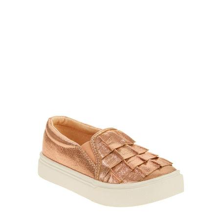 Wonder Nation Toddler Girls' Casual Ruffle Slip On Sneaker