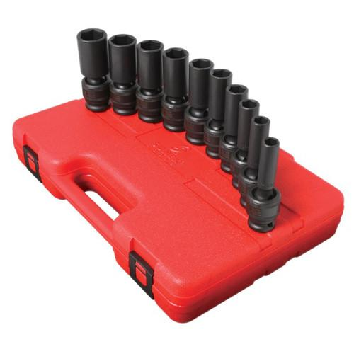 Sunex Tools 2659 10-Piece 1/2 in. Drive SAE Universal Deep Impact Socket Set