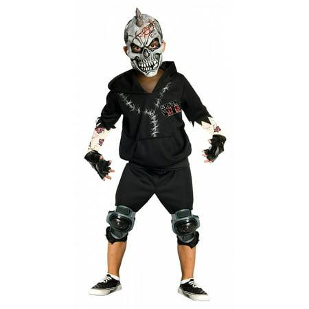 Skate or Die Child Costume Black - (Men's Skating Costumes)