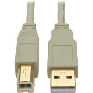 Tripp Lite 10ft USB 2.0 Hi-Speed A/B Cable (M/M), Beige