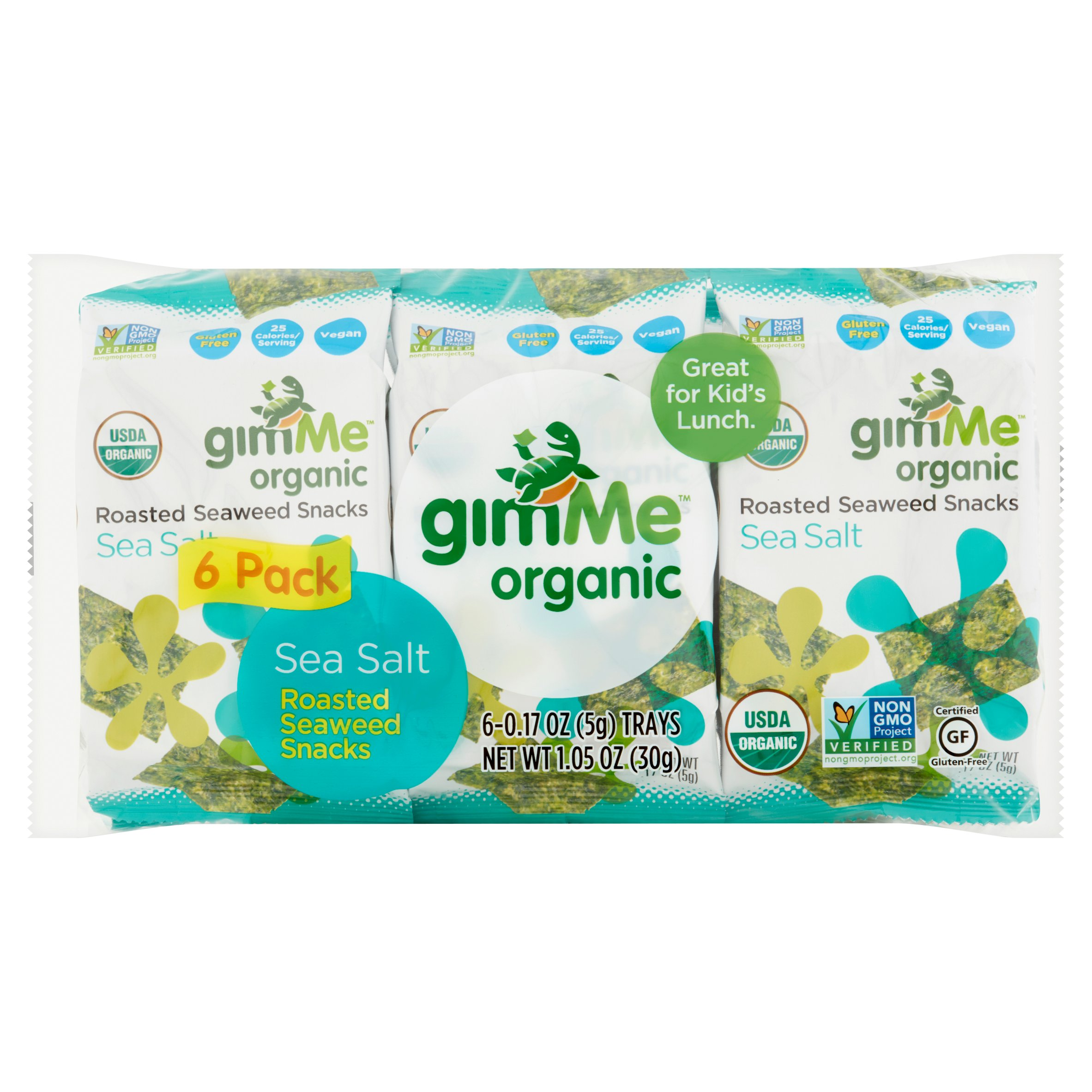 Gimme Organic Seaweed Snack, Roasted Sea Salt by Gimme Health Foods LLC