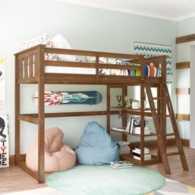 Metal Twin Over Full Bunk Bed With Side