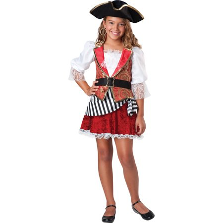 Girls Pretty Pirate Halloween Costume (Pretty Halloween Costumes For Girls)