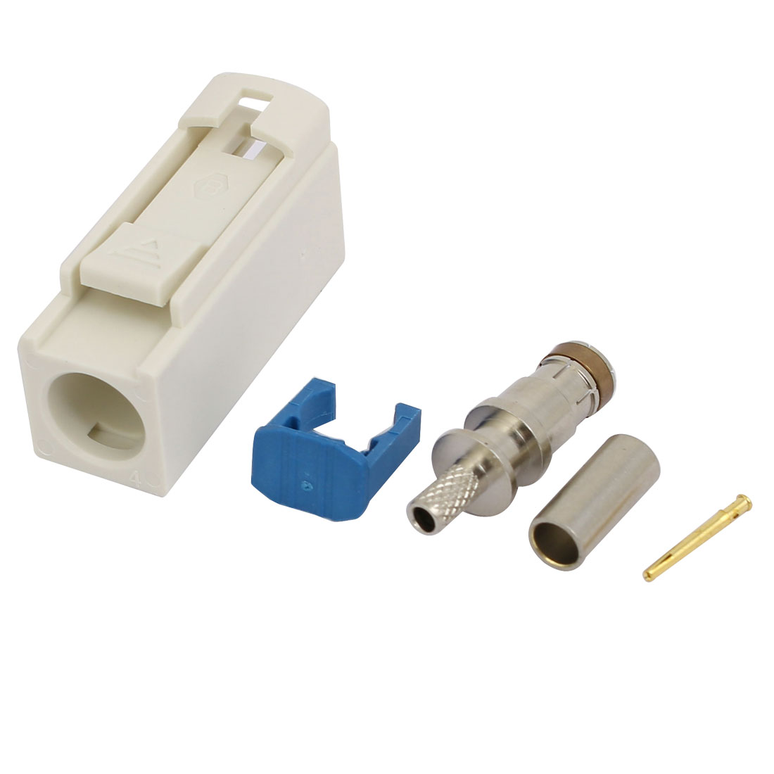 Unique Bargains FAKRA-B 0~ 6GHz 50 Ohm SH- Link RF Adapter White for RG174 Cable - image 1 of 2