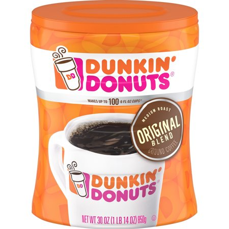 Dunkin' Donuts Original Blend Ground Coffee, Medium Roast, - Blend Fresh Roasted Coffee