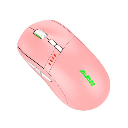 Ajazz i305Pro 2.4G Wireless Type-C Wired Dual Mode Mouse 16000DPI 8 keys Ergonomic Design Mouse for Laptop PC Pink - image 2 of 7