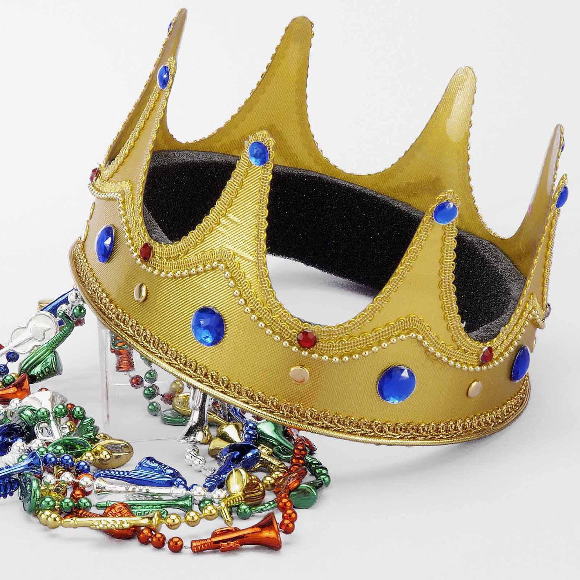 King Crown Fabric Adult Halloween Costume Accessory