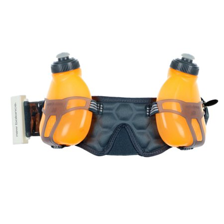 New Balance Unisex Helium H2O 2-Bottle Water Hydration Waistpack Gray Orange - Helium Bottle